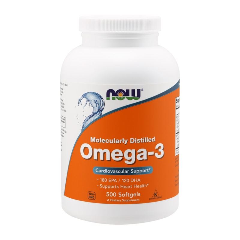 OMEGA-3 MOLECULARLY DISTILLED 500 GELS