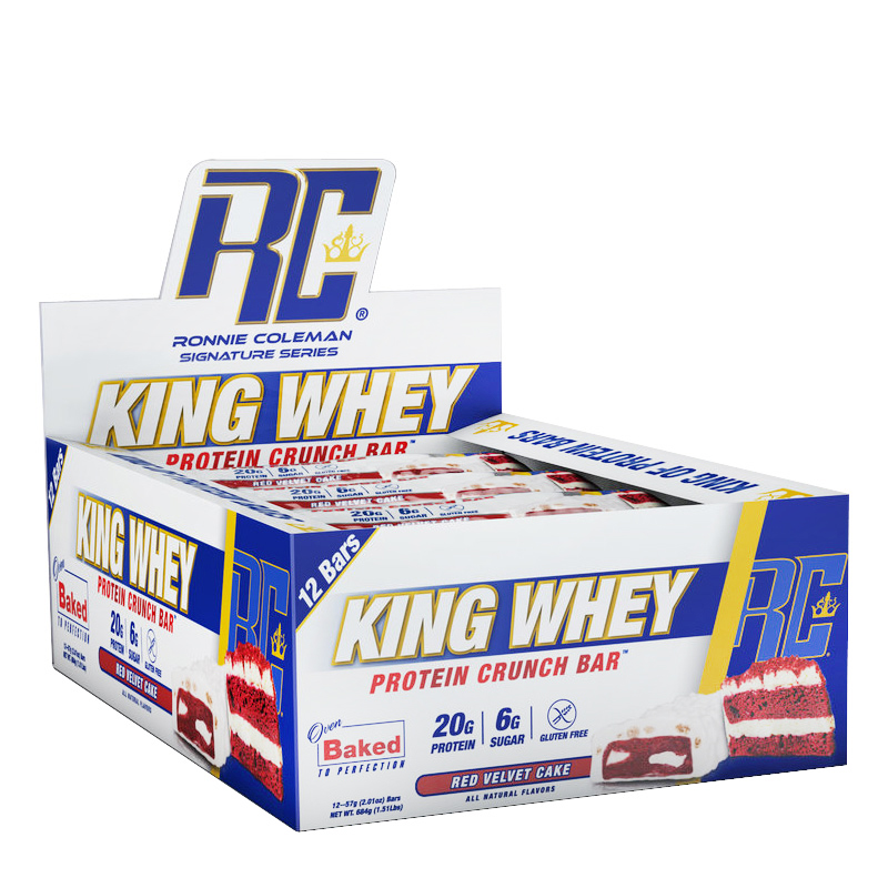 KING WHEY PROTEIN CRUNCH BAR 12EA