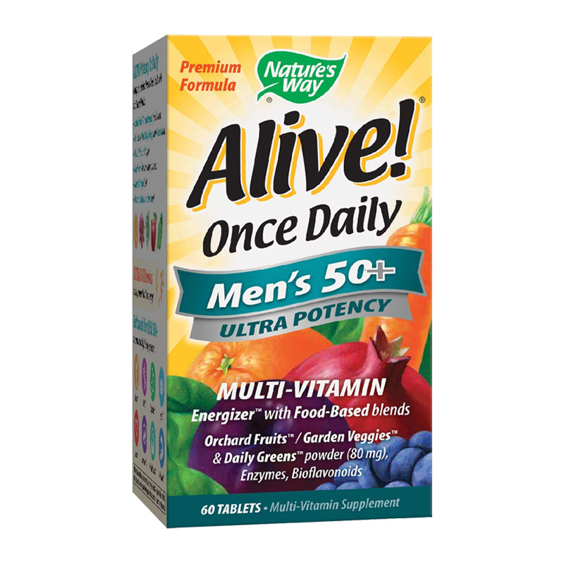ALIVE ONCE DAILY MEN'S 50+ 60TABS