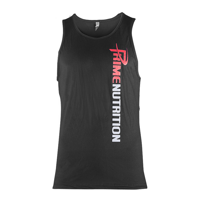 MEN'S BLACK  TANK TOP PRIME NUTRITION LOGO ATTACHED