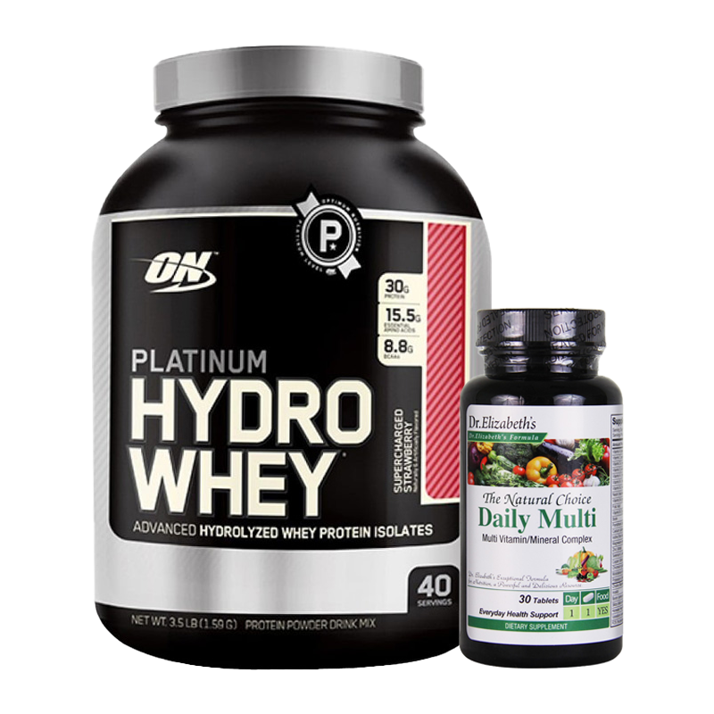 PLATINUM HYDRO WHEY 3.5 LBS + DAILY MULTI VITAMIN MINERAL COMPLEX 30 TABS