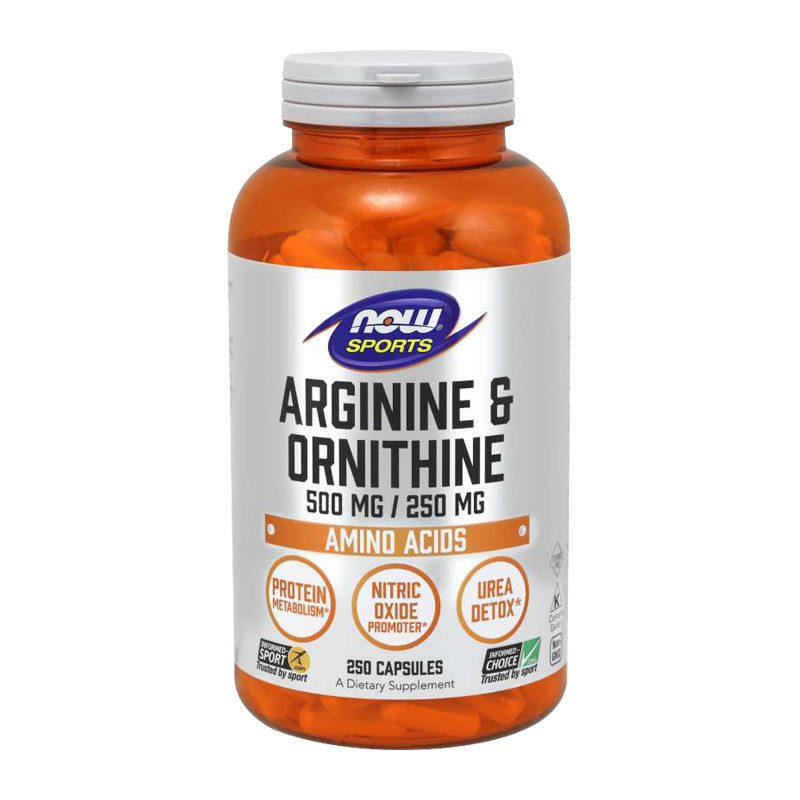 L-ARGININE & ORNITHINE 500/250 mg 250 CAPS