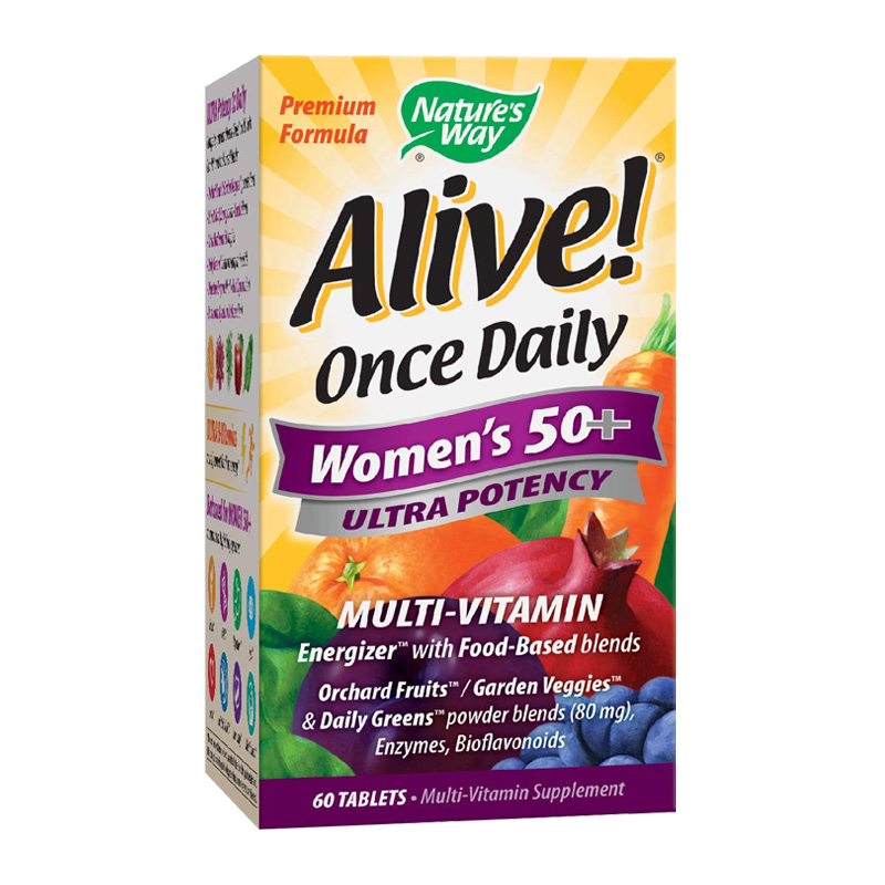 ALIVE ONCE DAILY WOMEN'S 50+ 60TABS
