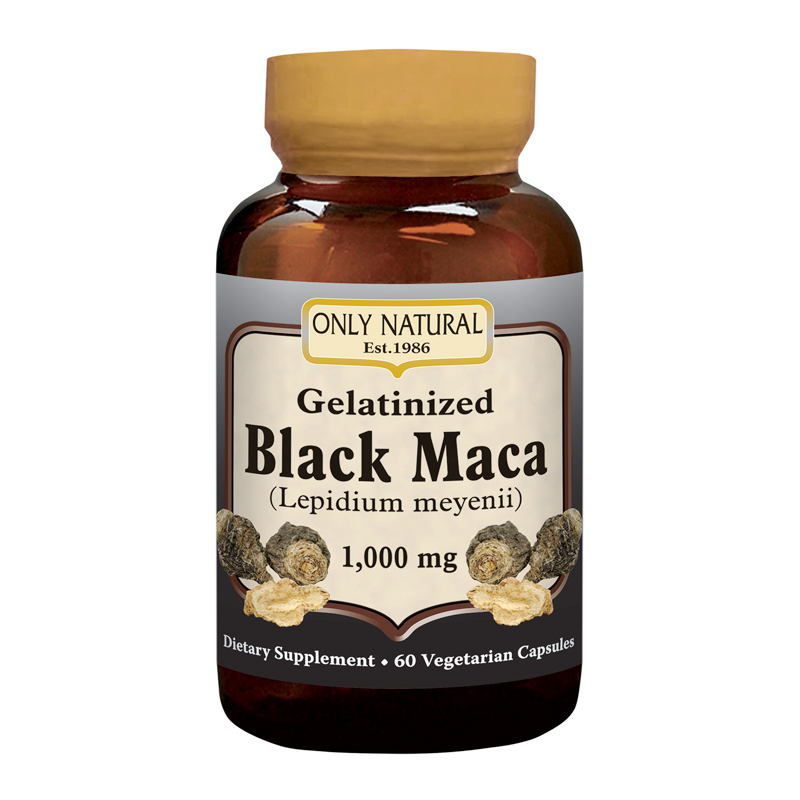 GELATINIZED BLACK MACA 1000mg 60 VCAPS