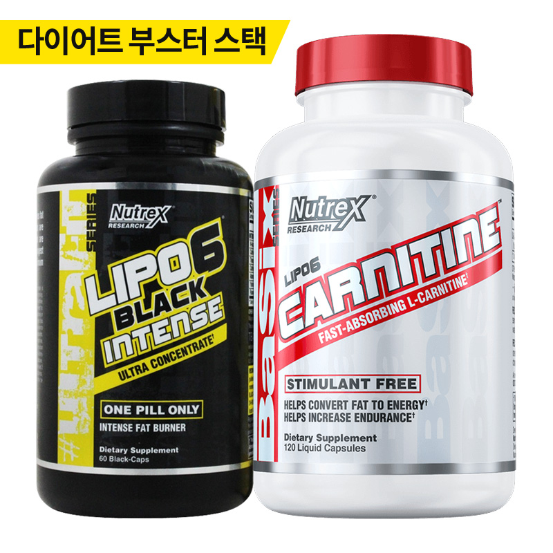LIPO6 BLACK INTENSE 60 CAPS + CARNITINE 120 LIQUI CAPS